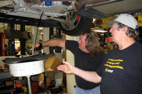 Oil change at Shop Day 2012
